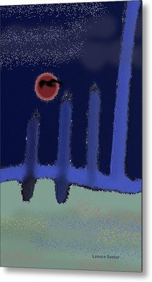 The Reappearance Of Sound Metal Print by Lenore Senior