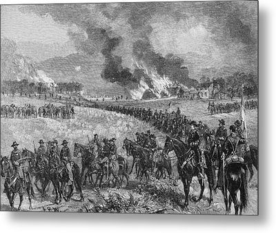 The Rear-guard General Custers Division Retiring From Mount Jackson, October 7th 1864, Illustration Metal Print