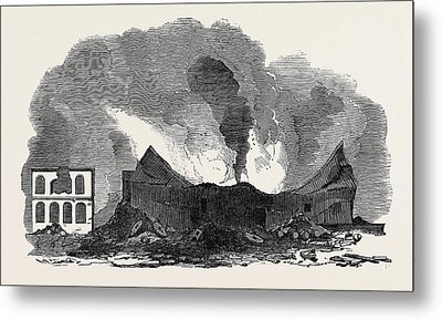 The Recent Fire At San Francisco Metal Print by English School