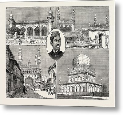 The Recent Installation Of The Nizam Of Hyderabad India 1 Metal Print by Indian School
