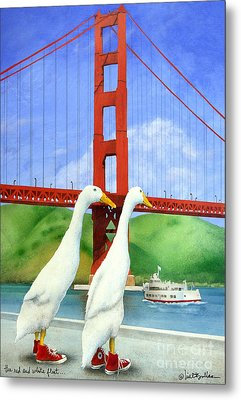 The Red And White Fleet... Metal Print by Will Bullas