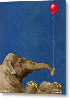 The Red Balloon... Metal Print by Will Bullas