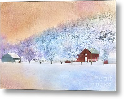 The Red Barn Metal Print by Betty LaRue