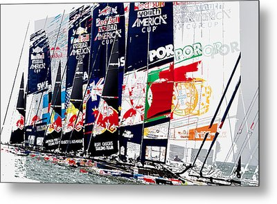 The Red Bull Youth Americas Cup The Start Metal Print by John Mangino