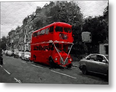The Red Bus Metal Print by Steve K