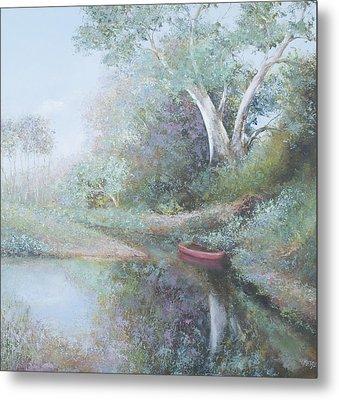 The Red Canoe Metal Print