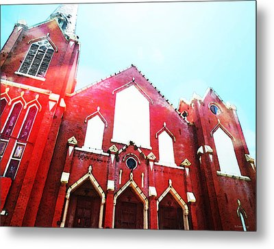 The Red Church By Sharon Cummings Metal Print by Sharon Cummings