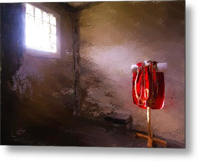 The Red Cloth Metal Print by Dale Stillman