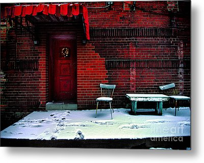 The Red Door Metal Print by Amy Cicconi
