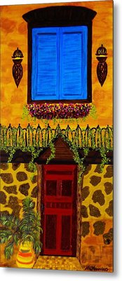 The Red Door Metal Print by Celeste Manning