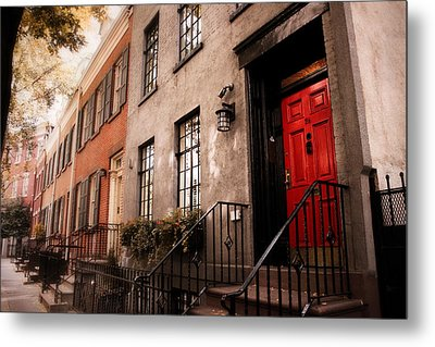 The Red Door Metal Print by Jessica Jenney