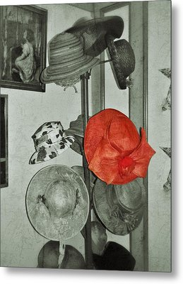 The Red Hat Metal Print by Jean Goodwin Brooks