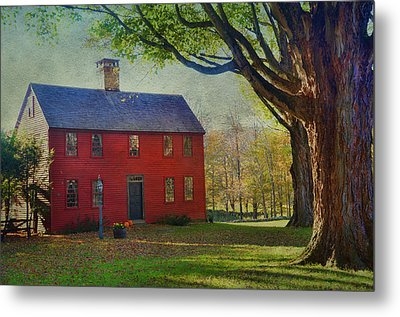 Metal Print featuring the photograph The Red House by Barbara Manis