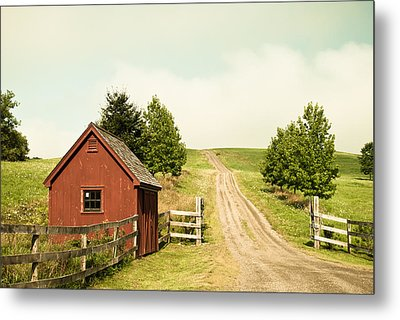 The Red House Metal Print by Lee Costa