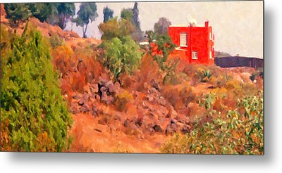 The Red House Metal Print by Spyder Webb