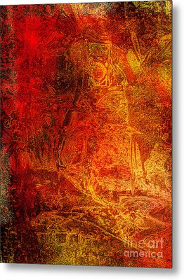 The Red Knight Tapestry Part Two Metal Print by Nicole Beland