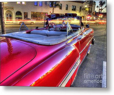 The Red Liner Metal Print