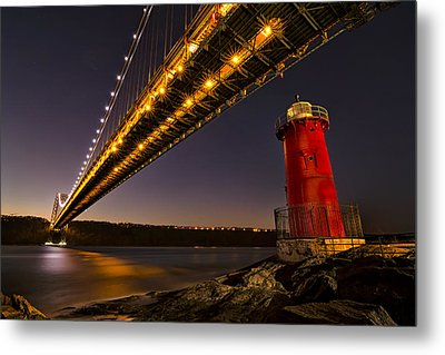 The Red Little Lighthouse Metal Print