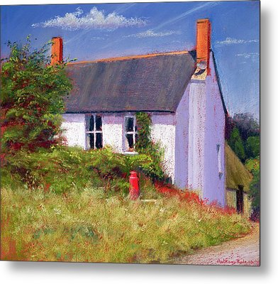The Red Milk Churn, 2003 Pastel On Paper Metal Print by Anthony Rule