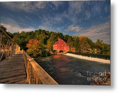 The Red Mill Metal Print by Paul Ward