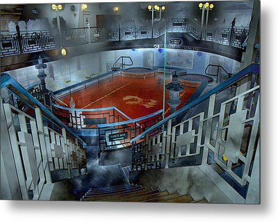 The Red Pool Metal Print by Betsy Knapp