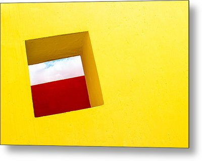 the Red Rectangle Metal Print