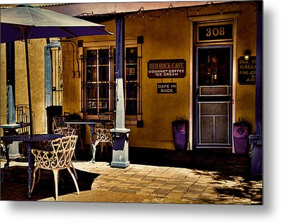 The Red Rock Cafe - Old Town - Albuquerque Metal Print by David Patterson