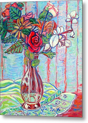 The Red Rose Metal Print by Kendall Kessler