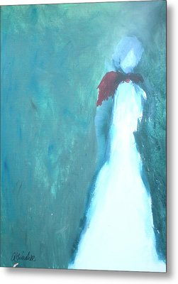The Red Scarf Metal Print by Andrea Friedell
