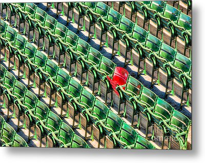 The Red Seat At Fenway Park I Metal Print by Clarence Holmes