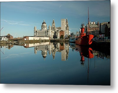 Metal Print featuring the photograph The Red Ship by Jonah  Anderson