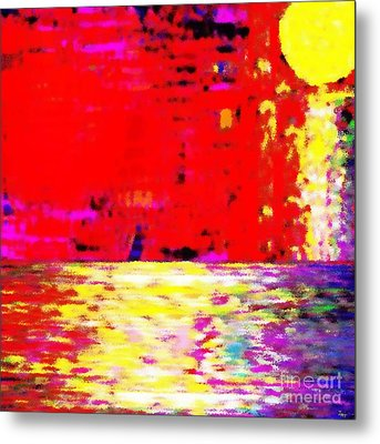 The Red Sky Metal Print by Israel  A Torres