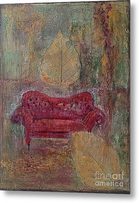The Red Sofa Metal Print