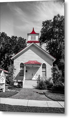 The Red Steeple Metal Print by Steven  Taylor