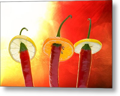 The Red - The Hot - The Chili Metal Print by Alexander Senin