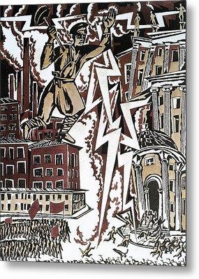 The Red Thunderbolt 1919 Metal Print by Ignaty Nivinisky