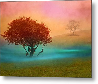 The Red Tree Metal Print by Nina Bradica