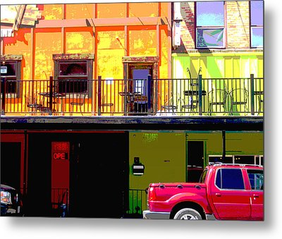 The Red Truck Metal Print by Ann Powell