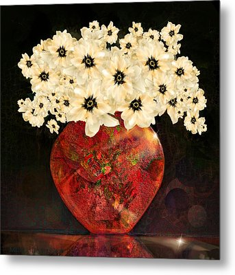 The Red Vase Metal Print