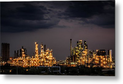 The Refinery Metal Print by Mihai Andritoiu