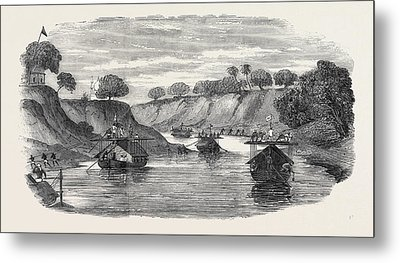 The Regiment Of Loodianah Gordons Sikhs On Their Voyage Metal Print