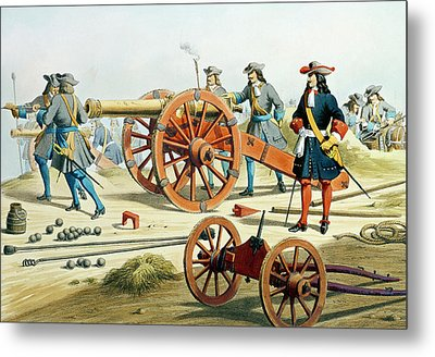 The Regiment Of The King's Fusilliers Metal Print by French School