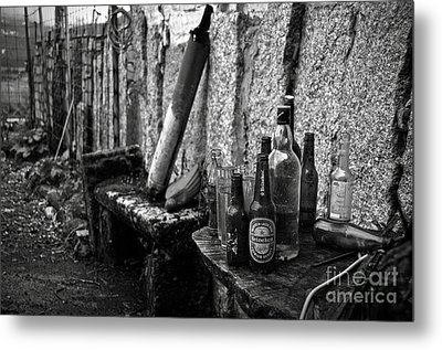 The Remains Of That Distant Party Bw Metal Print by RicardMN Photography