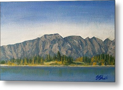 Metal Print featuring the painting The Remarkables  by Jane  See