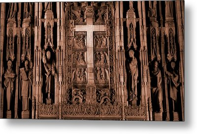 The Renaissance Cross In Church Metal Print by Dan Sproul