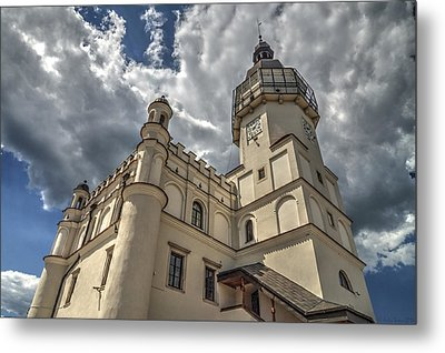 The Renaissance Town Hall In Szydlowiec In Poland Seen From A Different Perspective Metal Print
