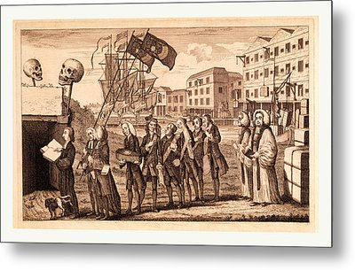The Repeal Or The Funeral Of Miss Ame=stamp Metal Print by Litz Collection
