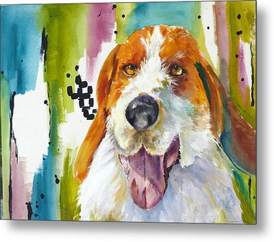 The Rescue Me Dog Metal Print by P Maure Bausch