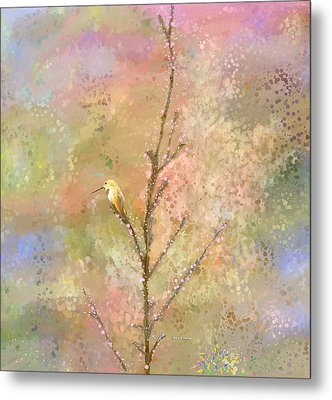 The Restlessness Of Springtime Rest Metal Print by Angela A Stanton