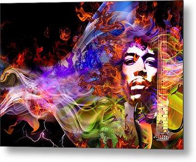 The Return Of Jimi Hendrix Metal Print
